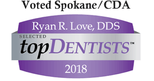 Voted Top Spokane Dentist by spokanecda.com